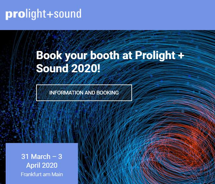 Prolight+Sound Frankfurt 2020